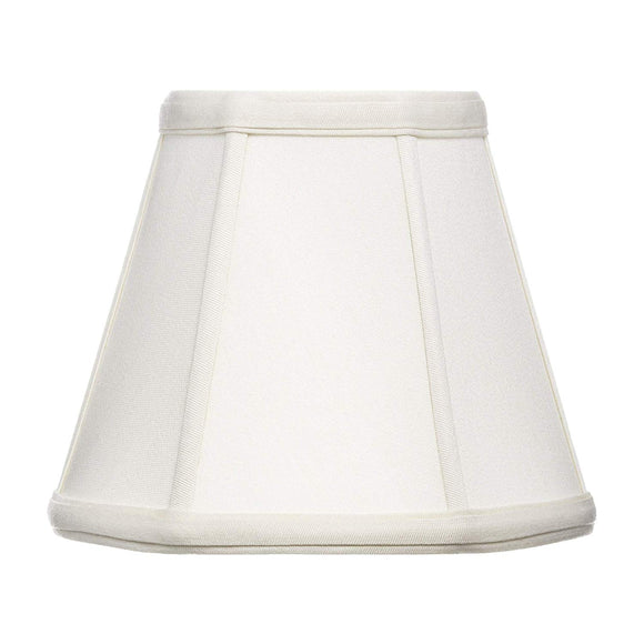 Upgradelights Off White Supreme Satin 8 Inch Basic Empire Clip On Lampshade 4.5x8x6