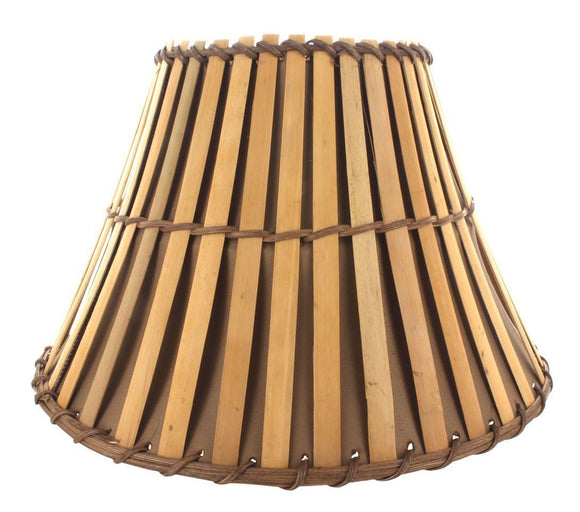 Upgradelights All Natural Bamboo 12 Inch Washer Fitted Lampshade