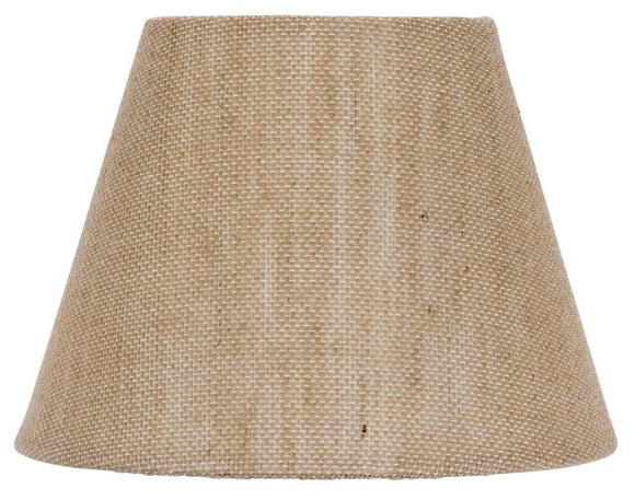 UpgradeLights European Drum Style Chandelier Lamp Shade 6 Inch Natural Burlap Clips Onto Bulb