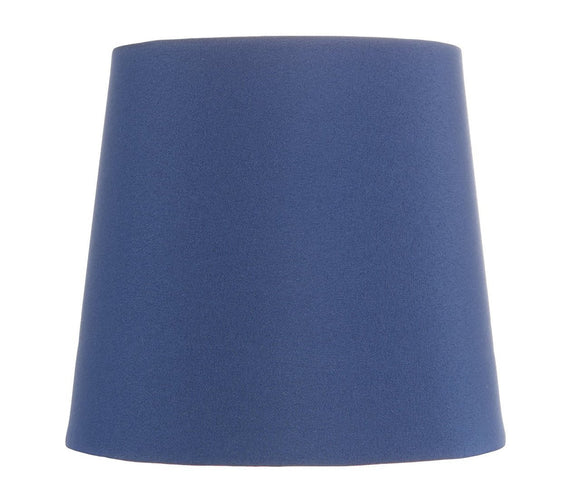 Upgradelights China Blue Five Inch Clip on Chandelier Lampshade with Nickel Bulb Clip