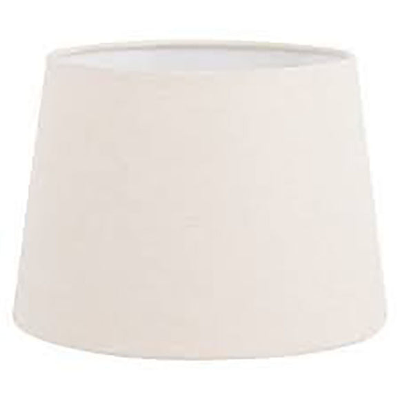 Upgradelights White Eggshell Linen 7 Inch European Barrel Clip on Chandelier Lampshade