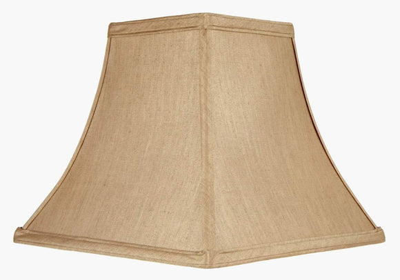 UpgradeLights Square Bell 10 Inch Candle Stick Replacement Lamp Shade Tan