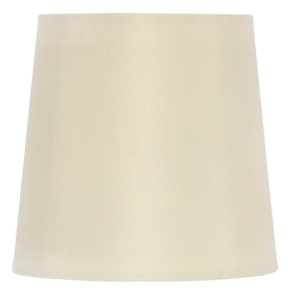 UpgradeLights White Eggshell Silk 5 Inch Retro Drum Clip On Chandelier Lampshade