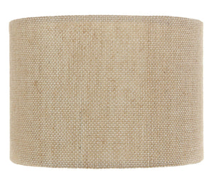 Upgradelights Beige Burlap 5 Inch Retro Barrel Drum Clip on Chandelier Lampshade