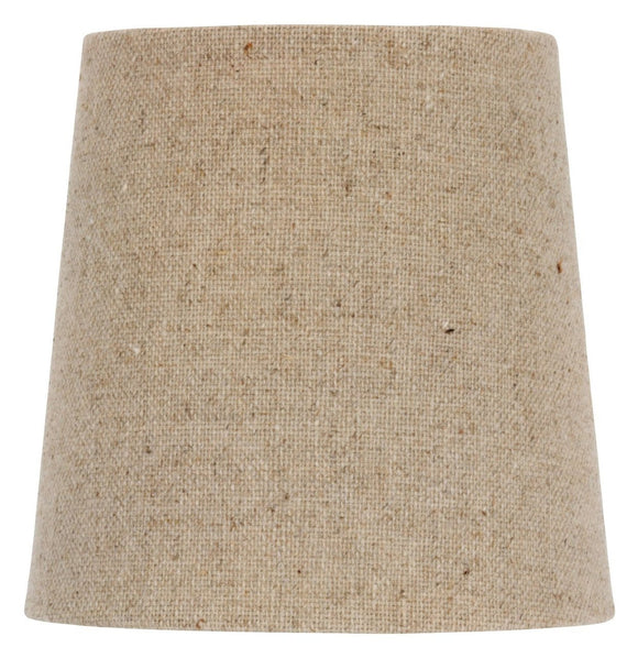 UpgradeLights 4 Inch European Drum Style Chandelier Lamp Shade Mini Shade Beige Linen Color(Ui2)