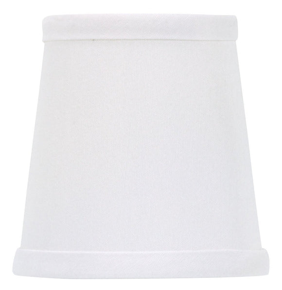 Upgradelights White Linen 4 Inch Retro Drum Clip On Chandelier Lampshade