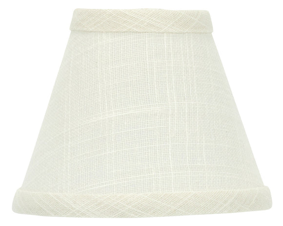 UpgradeLights White Eggshell 5 Inch Chandelier Lamp Shade that clips onto Flame Tip Bulb