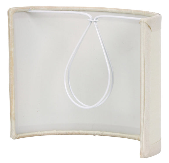 UpgradeLights White Eggshell Silk 5 Inch Wall Sconce Shield Lamp Half Shade