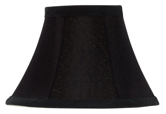 UpgradeLights Set of 2 Chandelier Lamp Shades 6 inch Black Silk with Gold Lining