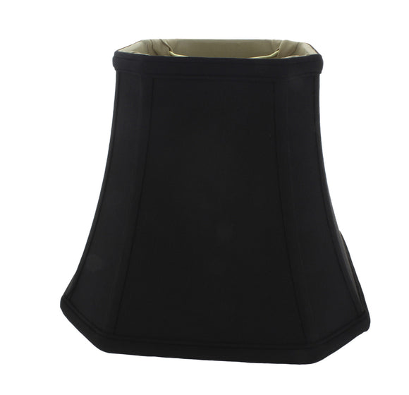Upgradelights Black Silk 10 Inch Flared Rectangular Lampshade