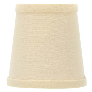 UpgradeLights Beige Linen Chandelier Shade Euro Barrel Drums