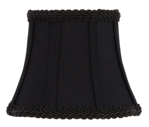 UpgradeLights Black Silk 4 Inch Wall Sconce Chandelier Half Shade