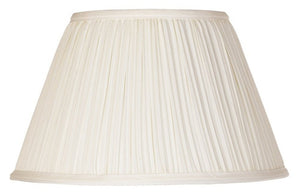 UpgradeLights Eggshell Pleated 12 Inch Lamp Shades Replacement with Attaching Finial