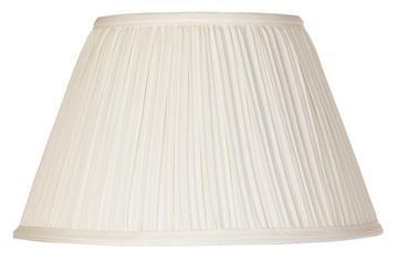 White Mushroom Pleat 10 Inch Clip on Lampshade Replacement (6x10x7.5)
