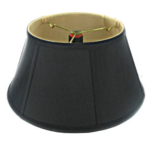UpgradeLights Black with Gold Lining 16 Inch Bouillotte Style Lampshade Replacement