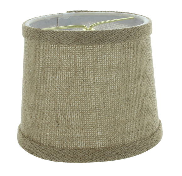 6 Inch Burlap with Trim Drum Shaped Chandelier Lampshade