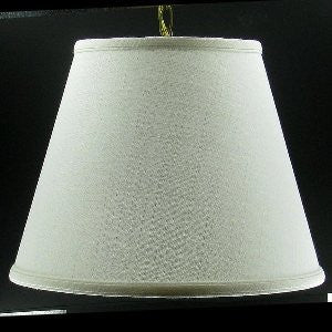 UpgradeLights White Burlap 17 Inch Traditional Drum Portable Swag Lampshade