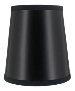 UpgradeLights Black with Gold Interior 4 Inch Barrel Drum Clip On Chandelier Lampshade