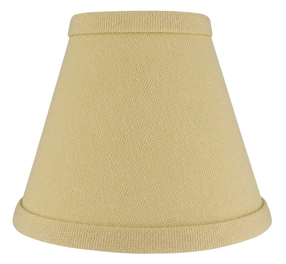 UpgradeLights 5 Inch Beige Linen Chandelier Lamp Shade Clips Onto Bulb