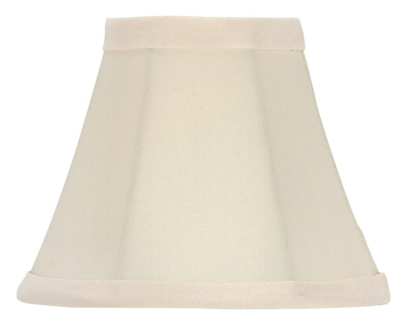 UpgradeLights Chandelier Lamp Shade Bell Shape 5 Inch Eggshell Silk(ui#16)