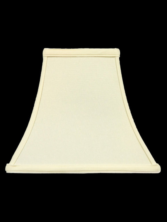 UpgradeLights White Eggshell Silk 10 Inch Square Bell Candle Stick Replacement Lamp Shade