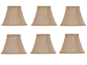UpgradeLights Set of 6 Chandelier Lamp Shades 6 Inch Belgium Linen