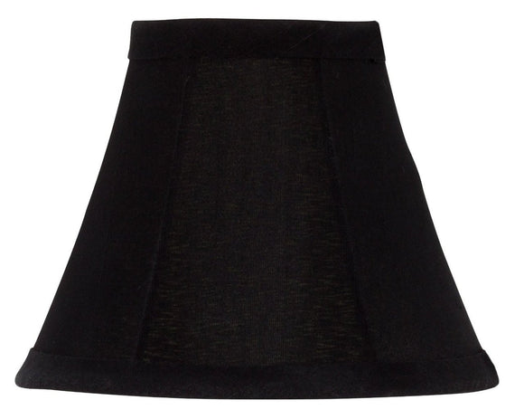 UpgradeLights Black Silk with Gold Lining Bell Shade Chandelier Lamp Shade Mini Clip on Shade