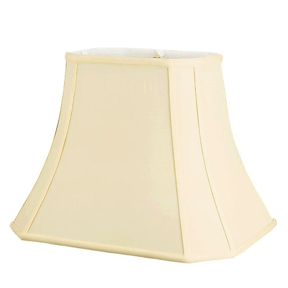 UpgradeLights White Eggshell Shantung Silk (12 by 16 Inch) Rectangle Cut Corner Lamp Shade