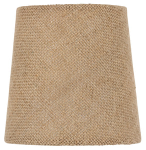 UpgradeLights 5 Inch European Drum Style Chandelier Lamp Shade Mini Shade Natural Burlap Fabric