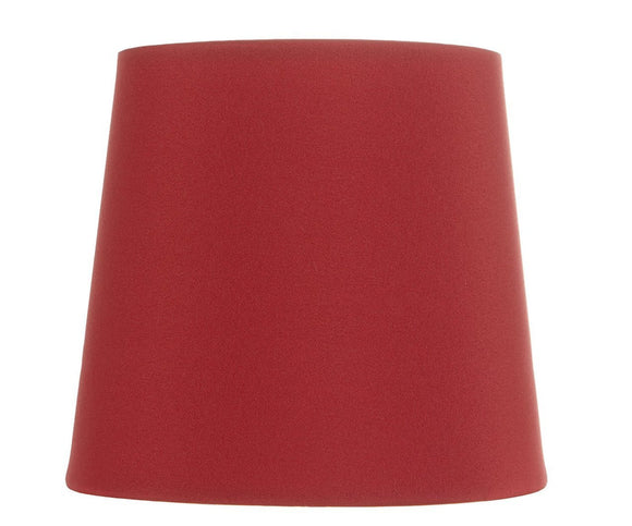 Upgradelights Red Silk Five Inch Clip on Chandelier Lampshade with Nickel Bulb Clip