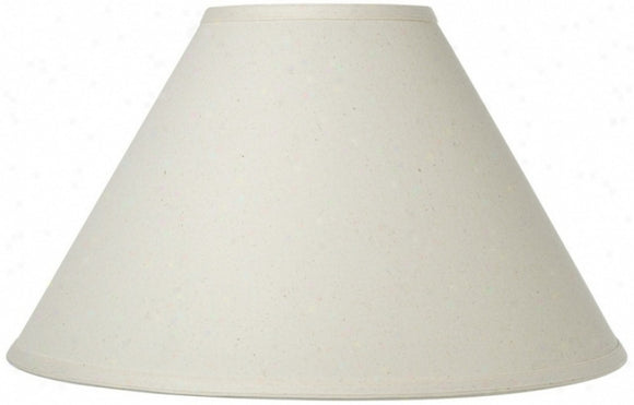 UpgradeLights White Eggshell Linen 12 Inch Round Flare Chimney Style Oil Lampshade Replacement