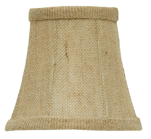 UpgradeLights Burlap 4 Inch Chandelier Mini Lamp Shade English Barrel Drum
