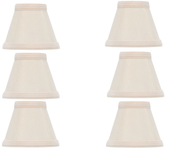 UpgradelightsÌÎå«Ì´å Beige Silk 5 Inch Empire Clip on Chandelier Lampshades (Set of 6)