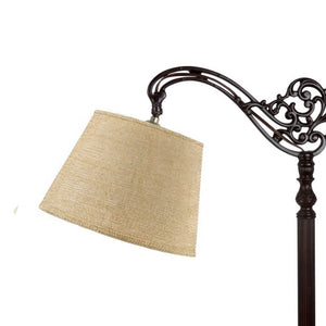 UpgradeLights Beige Burlap 10 Inch European Drum Lampshade with Uno Fitter