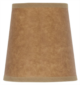 UpgradeLights Brown Oiled Kraft Paper Chandelier Shade English Barrel 4 Inch
