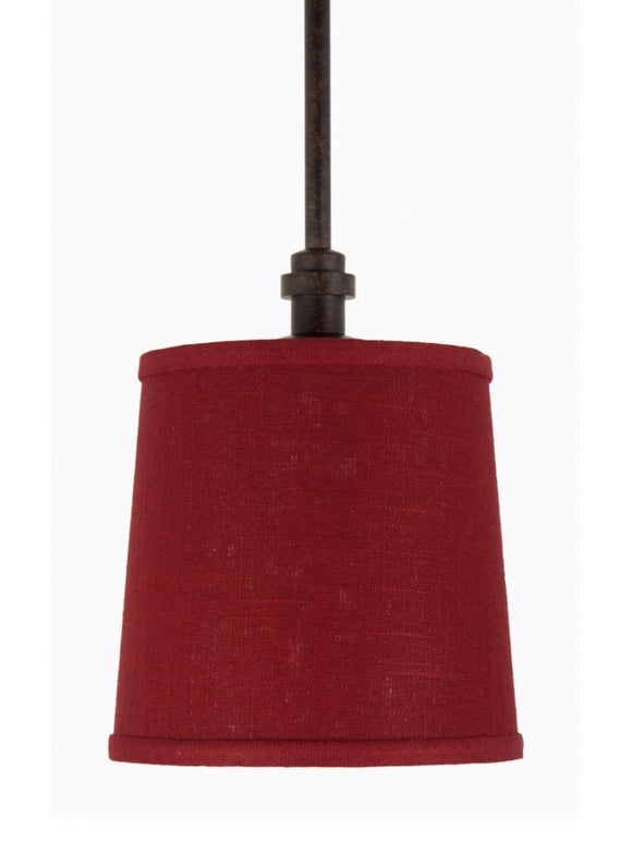 UpgradeLights Rustic Red Drum Pendant Light Fixture