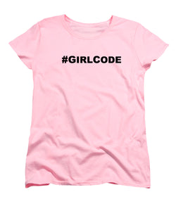 #GIRLCODE (Pink) Woman's T-Shirt at VIP Swag