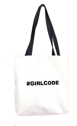 #GIRLCODE Tote Bag Tote Bags at VIP Swag