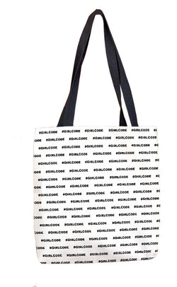 #GIRLCODE (Pattern) Tote Bag Tote Bags at VIP Swag