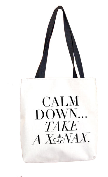 Calm Down...Take a Xanax Tote Bag Tote Bags at VIP Swag