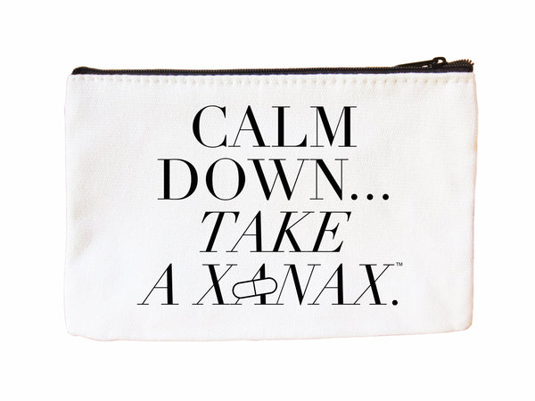 Calm Down...Take a Xanax Cosmetic Case Cosmetic Case at VIP Swag