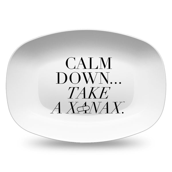 Calm Down...Take a Xanax Resin Serving Dish Plate at VIP Swag