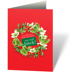 Not Well Bitch (Holiday) Notecards (Set of 12)  at VIP Swag