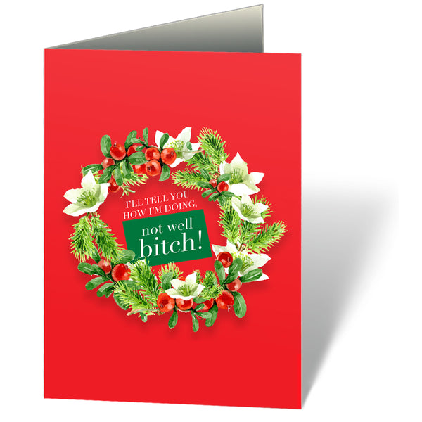 Not Well Bitch (Holiday) Notecards (Set of 12)