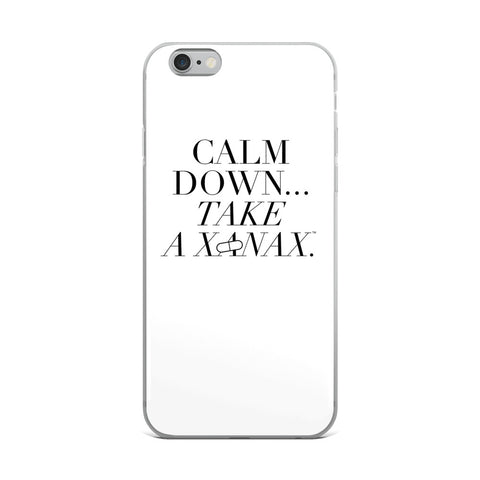 Calm Down Take a Xanax iPhone Case  at VIP Swag