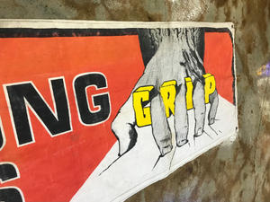 Vintage Armstrong Tires Grip Banner Advertisement