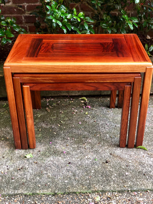 Danish Modern Mid Century Rosewood Nesting Tables