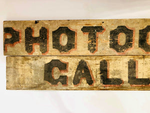 Turn of the Century Photograph Gallery Wood Trade Sign