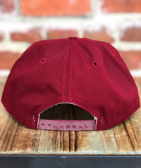 Deadstock 90's Cardinal Red Wool New Era Snapback