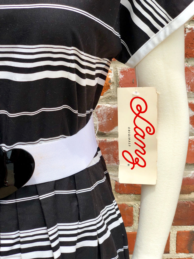 80's NOS Lanz Original Striped Dress